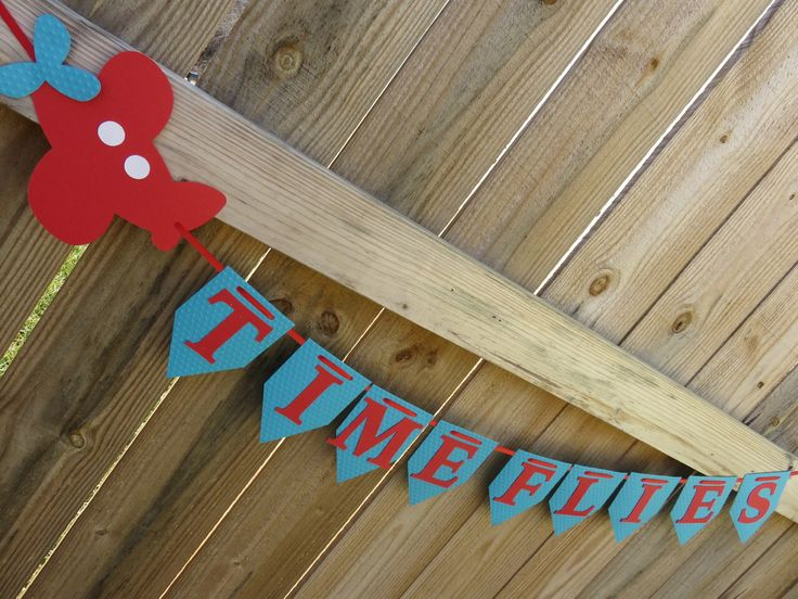 Time Flies Airplane Banner, Airplane Banner, Time Flies, Time Flies Birthday, Time Flies Banner, Airplane Party, Airplane Birthday, Airplane by SavorEachSecond on Etsy https://www.etsy.com/listing/201782088/time-flies-airplane-banner-airplane