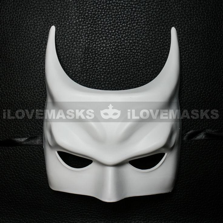 ILOVEMASKS.COM - Batman Halloween Masquerade Half Face Mask - White, $11.00…