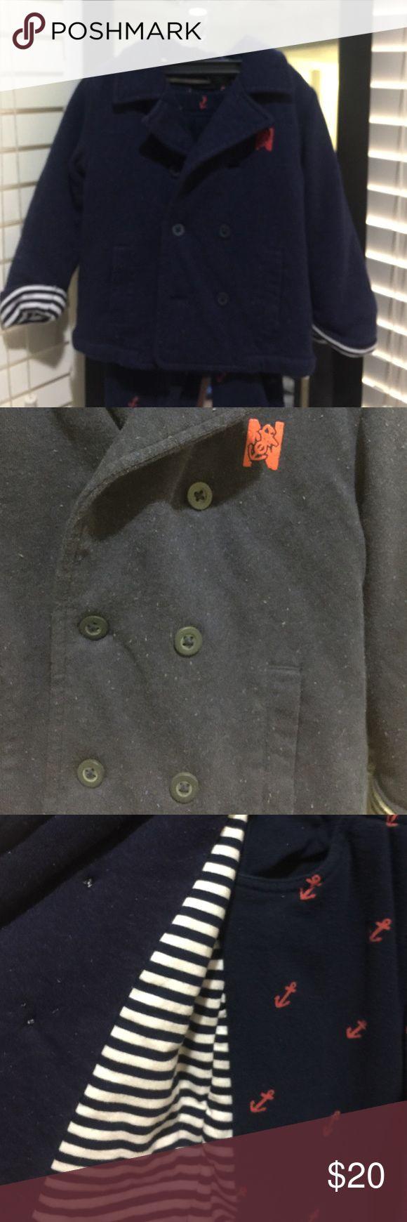 Nautica pants and peas coat set Nautica pants and pea coat/jacket set 2t 7/10 -8/10 condition boys toddler Nautica Jackets & Coats Pea Coats