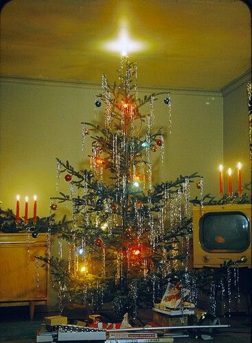 1950's Christmas...I LOVE this tree. We no longer call them Charlie Brown Trees, they are Kelli Trees