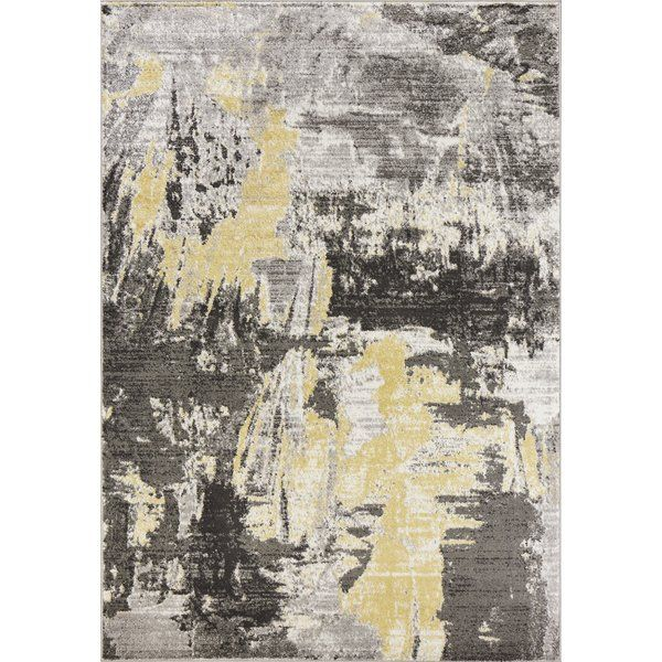 Watercolor Gray Area Rug Machine Woven Of 100 Polypropylene With No Backing Made In Turkey Vacuum Regularly Spot Clean Kas Rugs Watercolor Rug Area Rugs