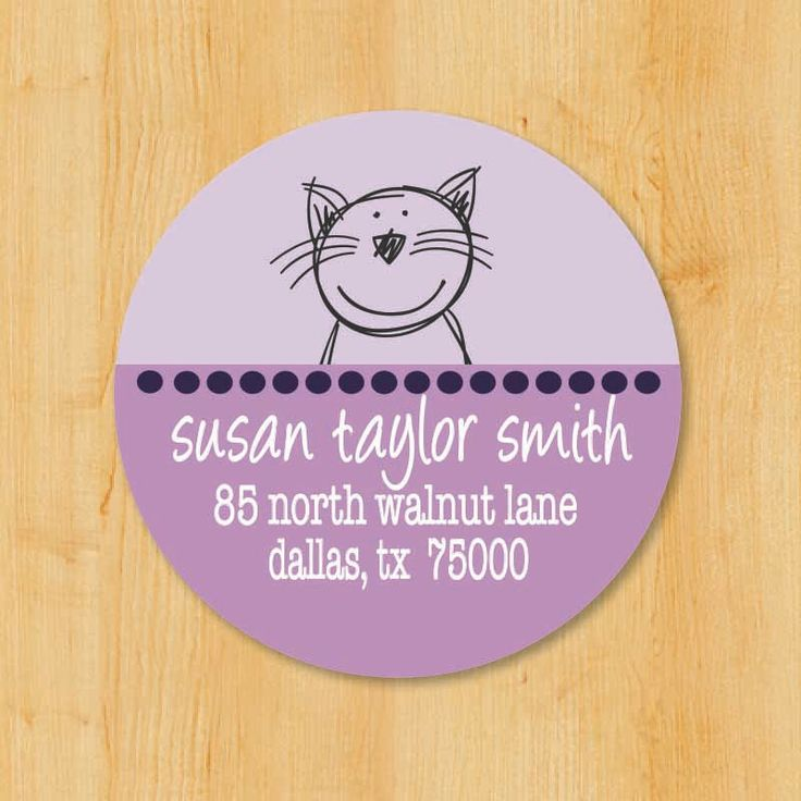Return Address Sticker   Custom Stickers   Personalized stickers   Round Address Label   Cat Sticker   Gift for Cat Lovers by ToodleLooWS on Etsy https://www.etsy.com/listing/195392145/return-address-sticker-custom-stickers
