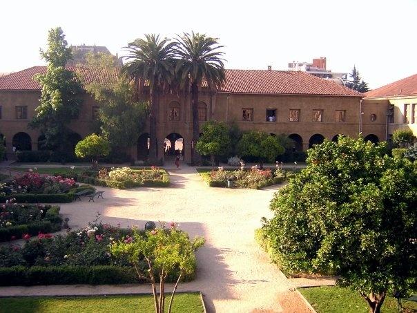 The school in Chile, Santiago College. Beautiful! Overlooking the orange garden.
