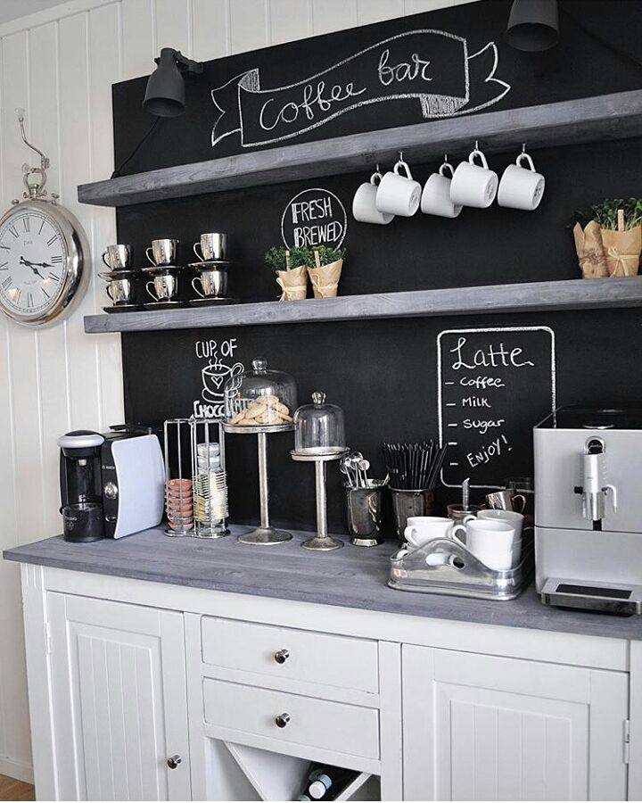 Everyone Wants To Have A Star Home Coffee Bar At Home, Because It Will Make  It Easier When Entertaining Guests And Friends. Home Coffee Bar Itself Is  ...