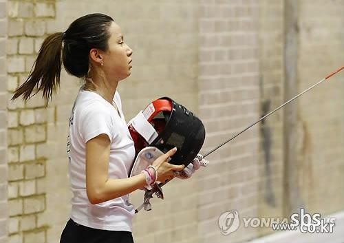 Team Korea Olympic training camp at Brunel University in July 2012 - Fencer Nam Hyeon-Hui taking a break from training in the Antonin Artaud arts building. Google Image Result for http://bbsimg.sbs.co.kr/photoviewer/Watermark/V0000355547/Img0499_20120724135802_1.jpg