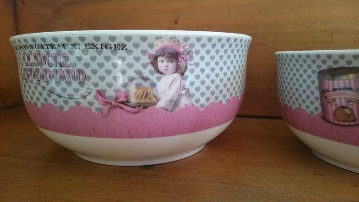 Creazioni Orval Set di 3 ciotole porcellana Le Zucchero LeGourmand VINTAGE retrò | eBay