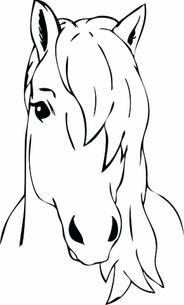 Horse Head Coloring Book Images