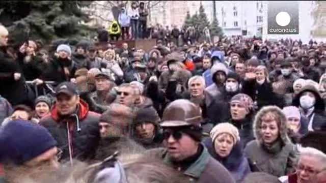 Prorrusos toman sede del ministerio del Interior en Donetsk