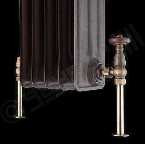 Designer Radiators | Clear Lacquer Vasco Vintage 50 4 Column Horizontal | 600h x 978w mm