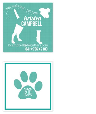 61 best dog walker images on pinterest business cards carte de this square contact card features a canvas texture print and a modern unique design perfect for dog walkers petsitters and veterinary health reheart Images
