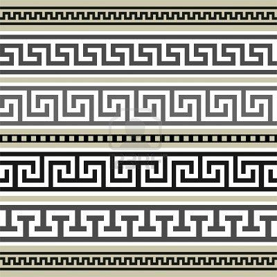 Greek borders collection
