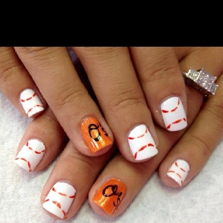 If you love The Baltimore Orioles, you will Love these!  Nails By Jeannie @ The Nail Station  Glen Burnie MD