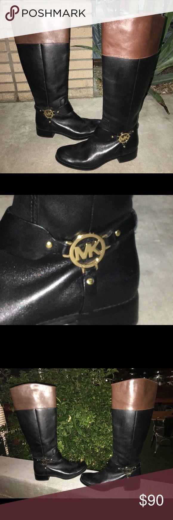 Michael Kors Equestrian leather riding boots SZ 8 Gorgeous, EXCELLENT LIKE NEW CONDITION, 2 tone genuine leather MICHAEL KORS EQUESTRIAN riding boots. $99 Michael Kors Shoes Winter & Rain Boots