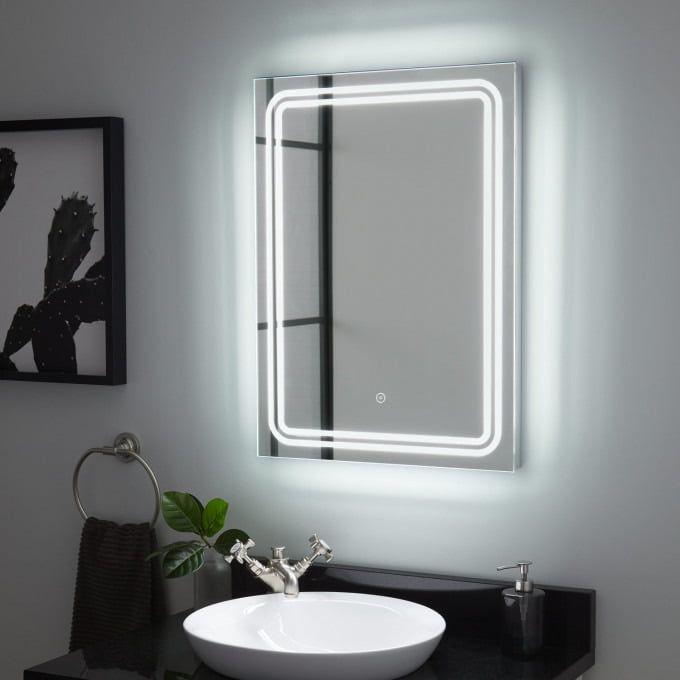 Turing Led Lighted Mirror Light Up Bathroom Mirror Modern