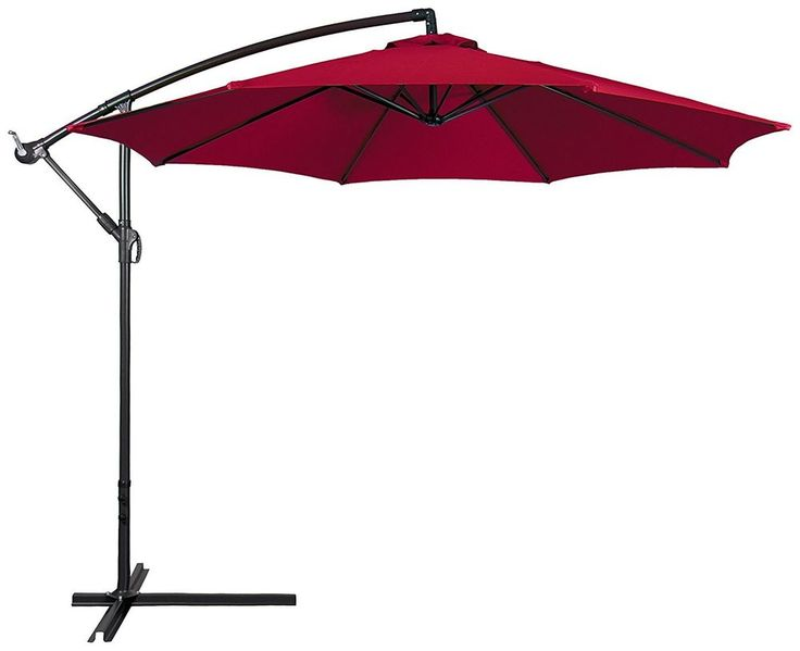 Large Patio Umbrella Rain Sun Canopy Free Standing 10 Ft Steel Pole Beach Pool  #BestChoiceProducts #MarketUmbrella