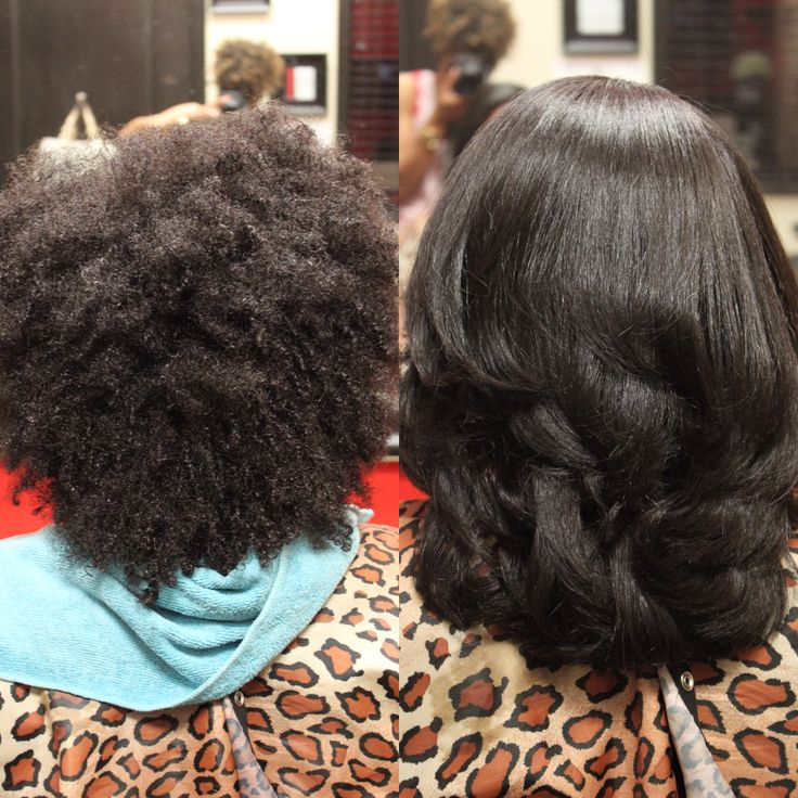 Brazilian Blow Out On Black Natural Hair