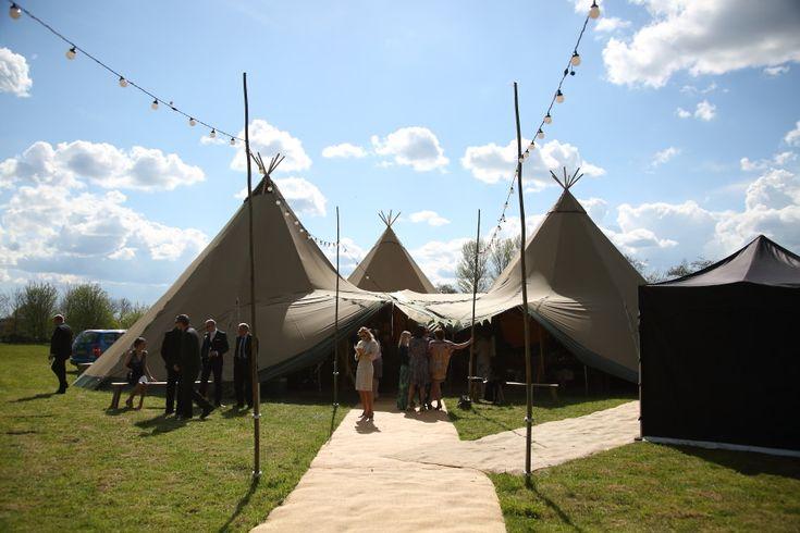 amazing tipi wedding in essex village