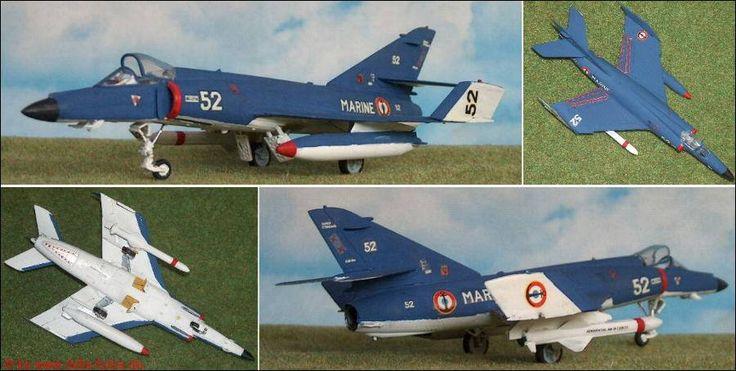 """Dassault """"Super Etendart"""" AMD mit Exocet, Kampfflugzeug 1:72"""