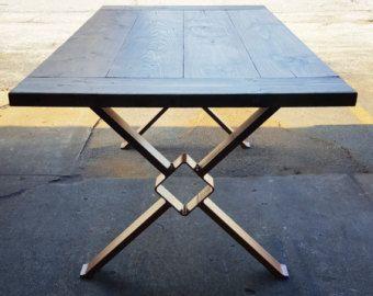 Trestle Table Legs, Model Heavy Duty, Sturdy Metal Legs, Industrial Legs,  Dining Table Leg Set By DVAMetal