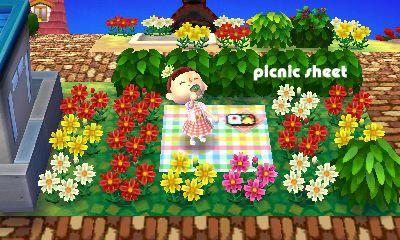 Animal Crossing New Horizons Qr Codes Picnic Blanket