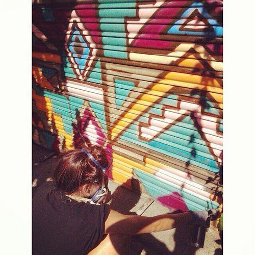 Pintando la persiana de Dinamo-Studio :)
