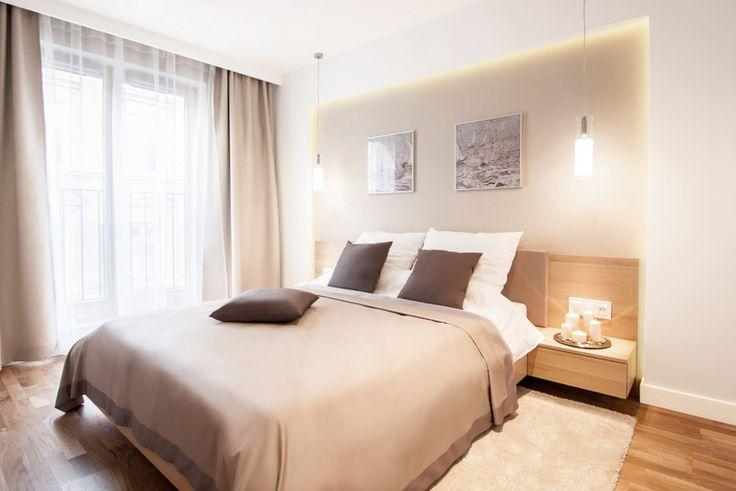 Pomysł na nowoczesne wnętrze sypialni pomysł na ścianę za łóżkiem