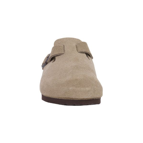 birkenstock boston taupe suede clogs