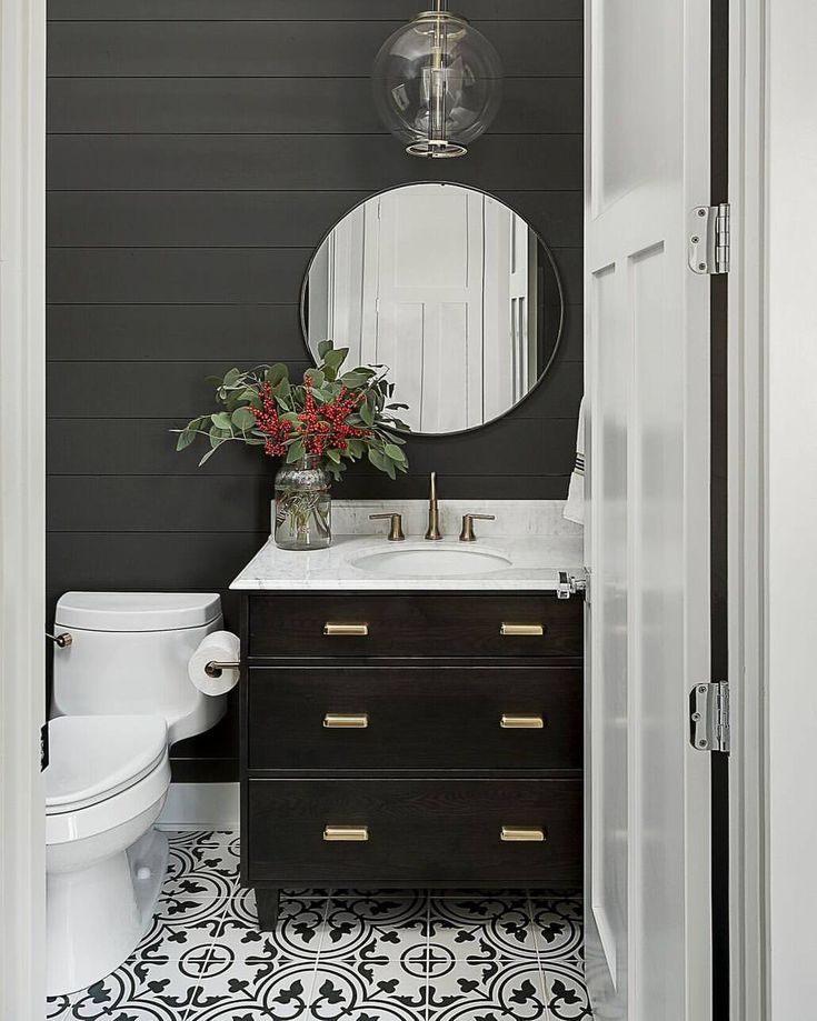 """Home Bunch (@homebunch) on Instagram: """"I am a huge fan of #dark #shiplap. How about you? I think that, with paired with the right…"""""""