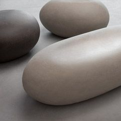"Seating: a large size ""pebble"" made from clay By: Atelier Vierkant, Belgium"