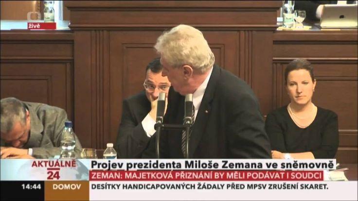 Spící Schwarzenberg probuzen prezidentem Zemanem
