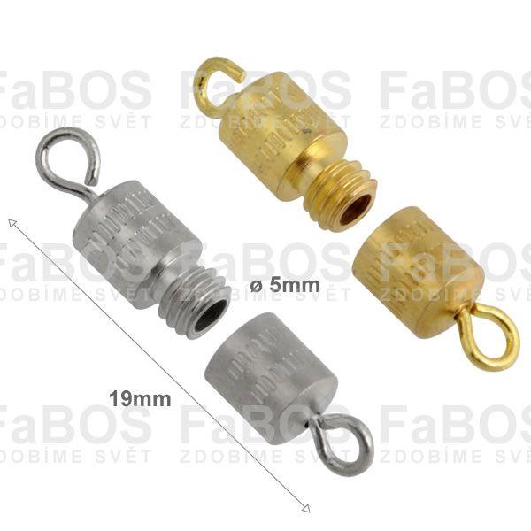 Bižuterní zapínání Bižuterní zapínání šroubovací 19mm - FaBOS