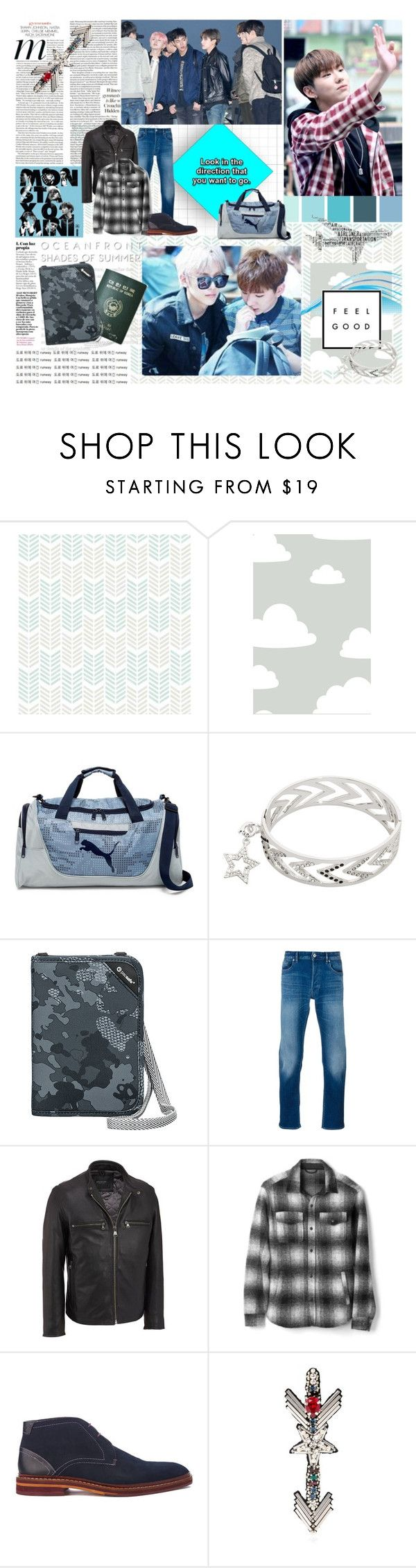 """""""BOTKPG2 Round 7: Final Destination"""" by tokyotrekker ❤ liked on Polyvore featuring Wall Pops!, Puma, nikki lissoni, Passport, Pacsafe, STONE ISLAND, Andrew Marc, Gap, Ted Baker and Happy Embellishments"""