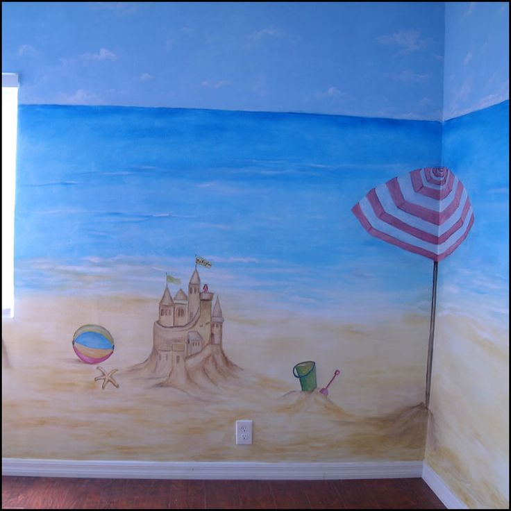 29 best images about beach murals on pinterest for Beach mural painting