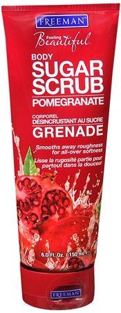 Freeman Feeling Beautiful Sugar Body Scrub Pomegranate 6 oz [072151169134]