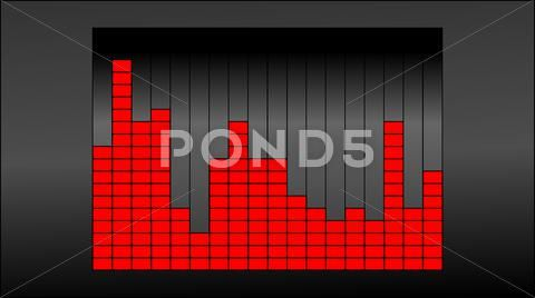 Raster image displays the frequency of the sound equalizer