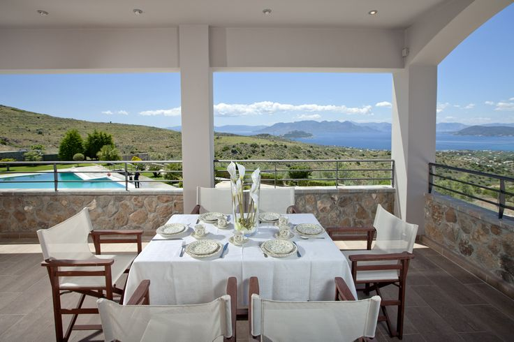 Enjoy a #lunch with a view at Ourania #suite in Marini Luxury Apartments & Suites
