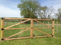 welded wire fence with wooden posts - Google Search