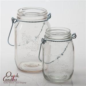 Eastland Small Mason Jar with Handle Glass Set of 12