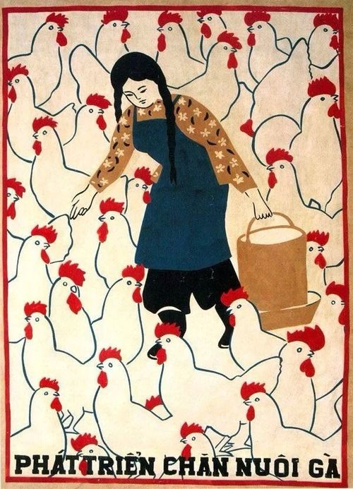pluralistfarmer: Vietnamese agriculture poster (Source unknown)