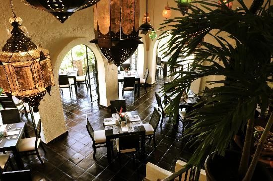 Taste Restaurant at Casa Cupula: Main Dining Area with Lanterns