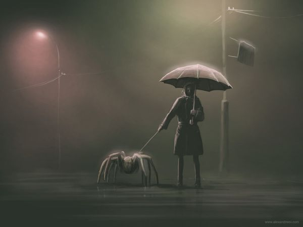 These surreal artworks were created by Alex Andreyev, artist form Saint Petersburg, Russia. Unusual, creative and inspiring. Click on the pic to see much better views and more of his artwork.