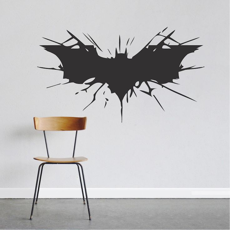 bat wall decal large boys bedroom wall designs hero on wall stickers design id=92679