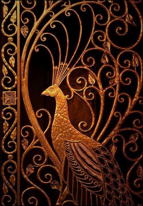 Art Nouveau Gilded Cast Gate