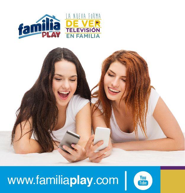 ¿Ya conoces la nueva forma de ver televisión en familia? Ingresa ya a www.familiaplay.com disfruta de programas, series y películas.  Puedes hacerlo desde tu computador, smartphone, tableta o Smart TV. ¡Es gratis!