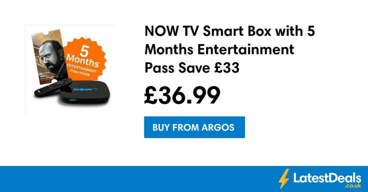 NOW TV Smart Box with 5 Months Entertainment Pass Save £33, £36.99 at Argos