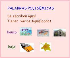 Resultado de imagen de carteles palabras polisemicas