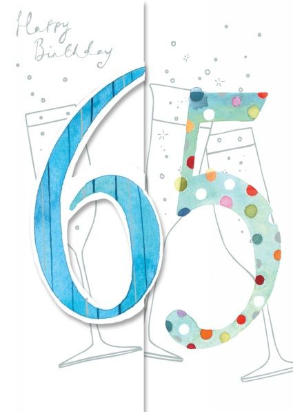 Ling Design Spotty Sixty Five Birthday Card