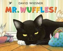 Mr. Wuffles ignores all his cat toys but one, which turns out to be a spaceship piloted by small green aliens. When Mr. Wuffles plays rough with the little ship, the aliens must venture into the cat's territory to make emergency repairs. Story and illustrations by David Wiesner.