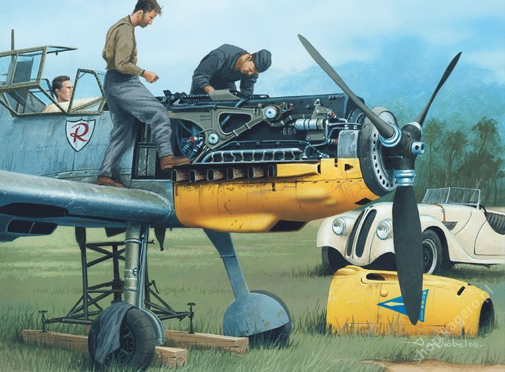 Messerschmitt Bf 109 E by Jaroslaw Wróbel