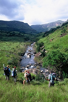 When the thunderstorms of summer have given way to cold fronts that sweep across the country from the Atlantic, it's time to head for uKhahlamba Drakensberg Park in the majestic Drakensberg mountains.